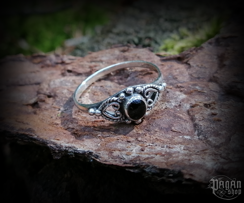 Ring with onyx Melina - 925 sterling silver