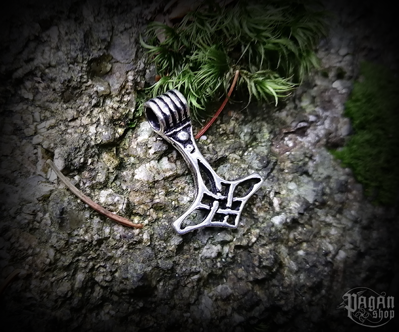 Pendant Thor's hammer Thrain - 925 sterling silver