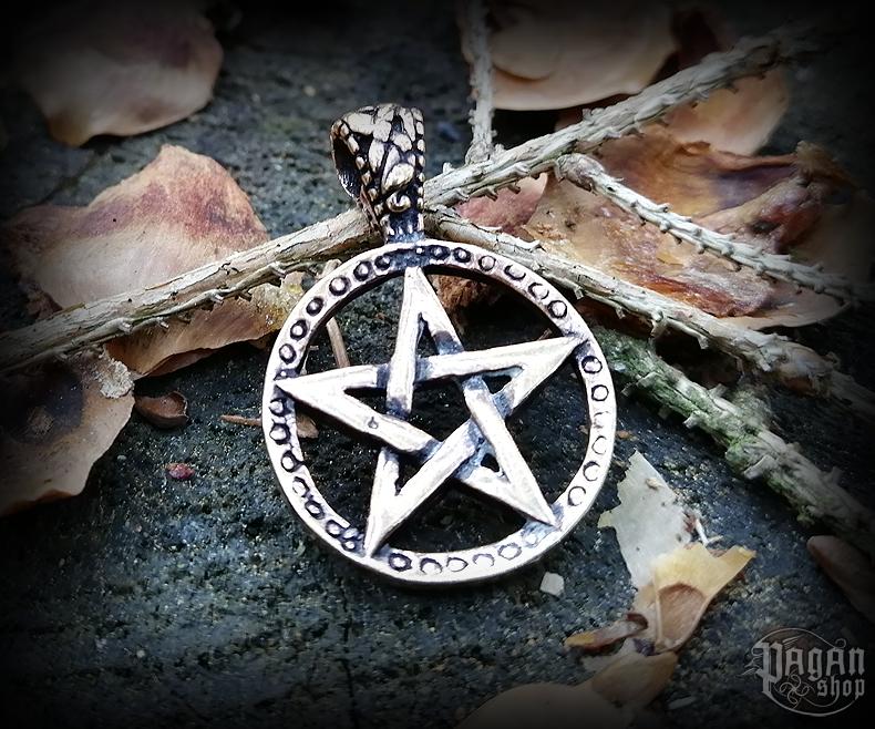 Pendant Pentagram Morgan - bronze
