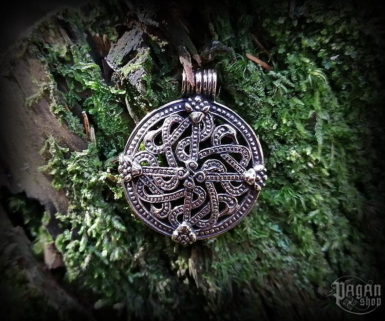 Přívěsek Vikingský kříž Vingårdliten - bronz