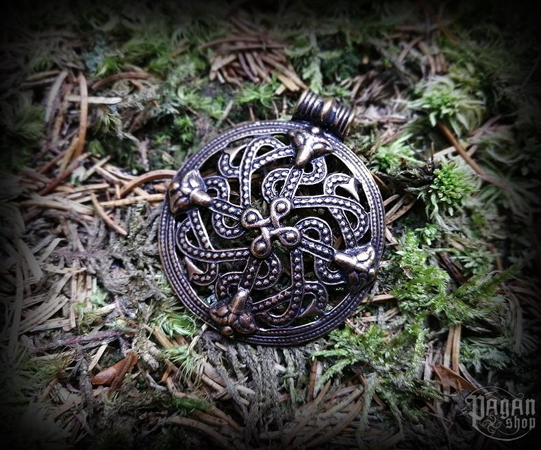 Přívěsek Vikingský kříž Vingård - bronz