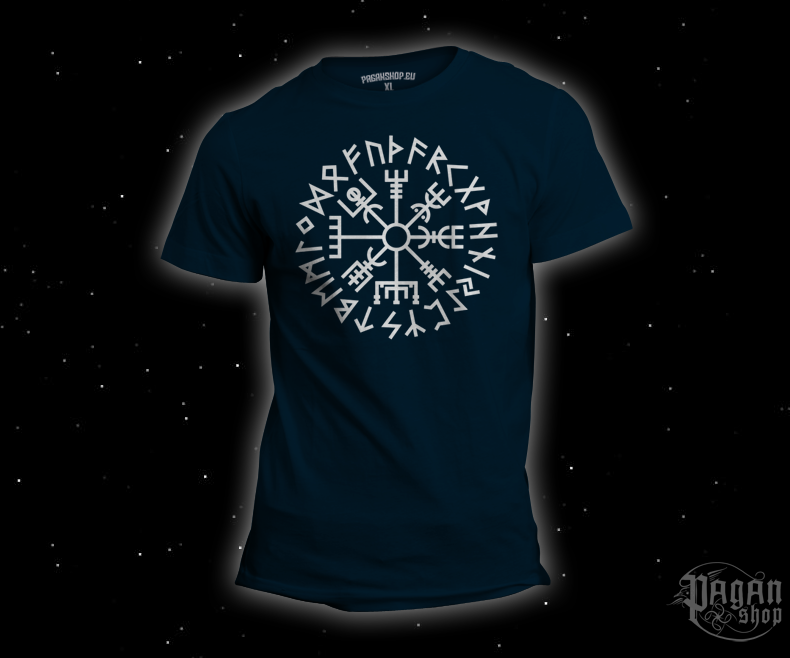 T-shirt Vegvisir Futhark dark blue