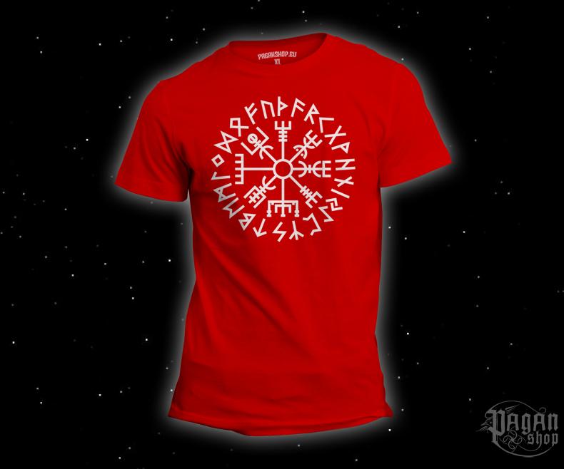T-shirt Vegvisir Futhark red