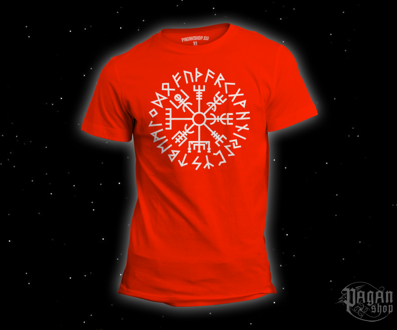 T-shirt Vegvisir Futhark orange