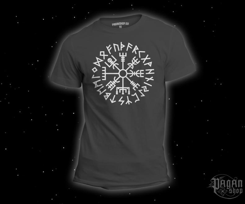 T-shirt Vegvisir Futhark grey