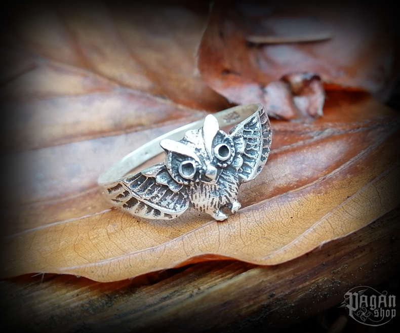 Ring Owl Noctia - 925 sterling silver
