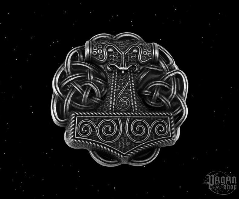 Belt buckle Thor's hammer Silfur Hnútur