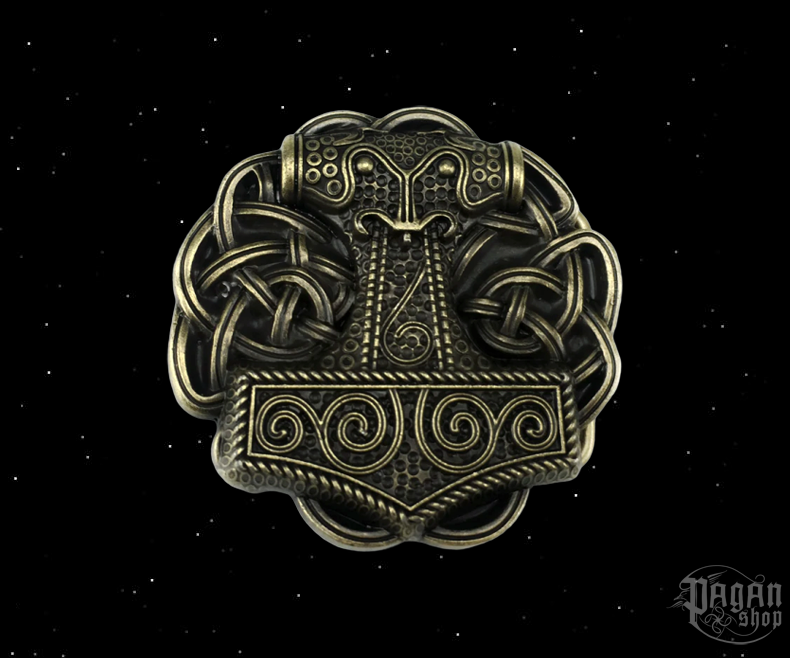 Belt buckle Thor's hammer Brons Hnútur