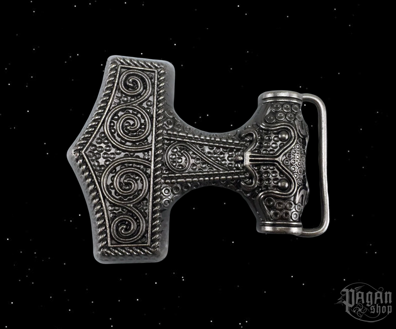 Belt buckle Thor's hammer Silfur