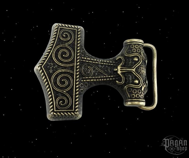 Belt buckle Thor's hammer Brons