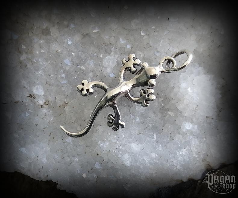Pendant Gecko Ruby - 925 sterling silver