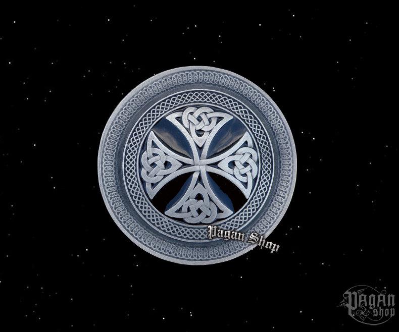 Belt buckle Celtic shield Dubh