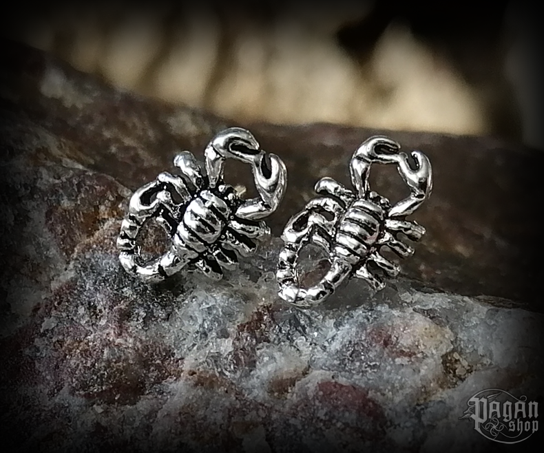 Stud earrings Scorpion Damion - 925 sterling silver