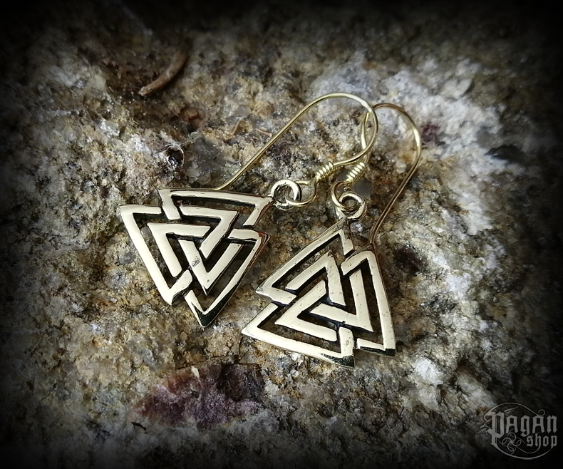 Hook earrings Valknut Ragarda - bronze