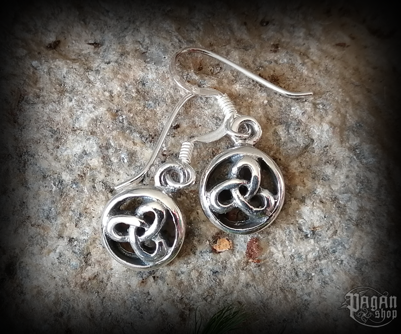 Hook earrings Triquetra Trina - 925 sterling silver