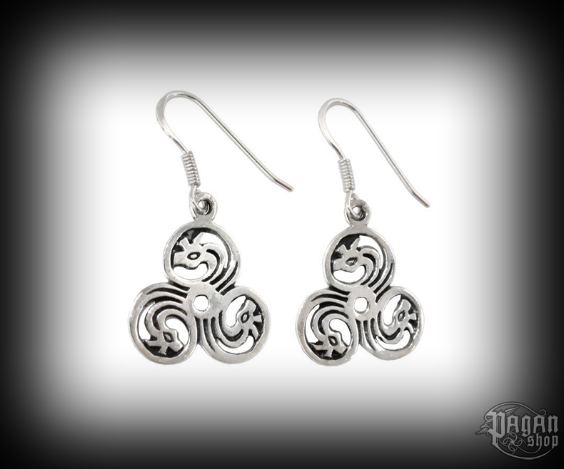Hook earrings Triskel Dreki - 925 sterling silver