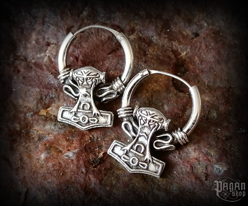 Creole Thor's hammer Nordmann - 925 sterling silver