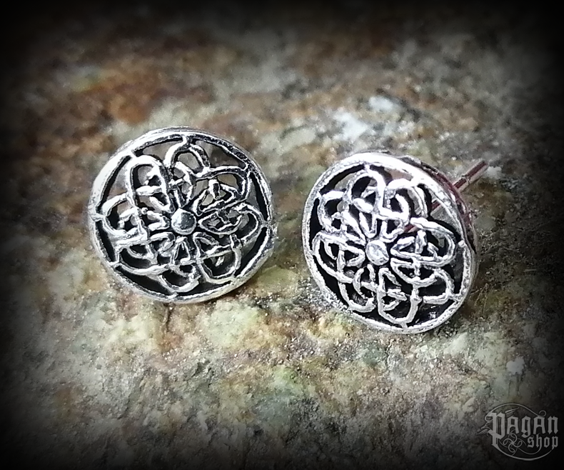 Stud earrings Celtic Falka - 925 sterling silver