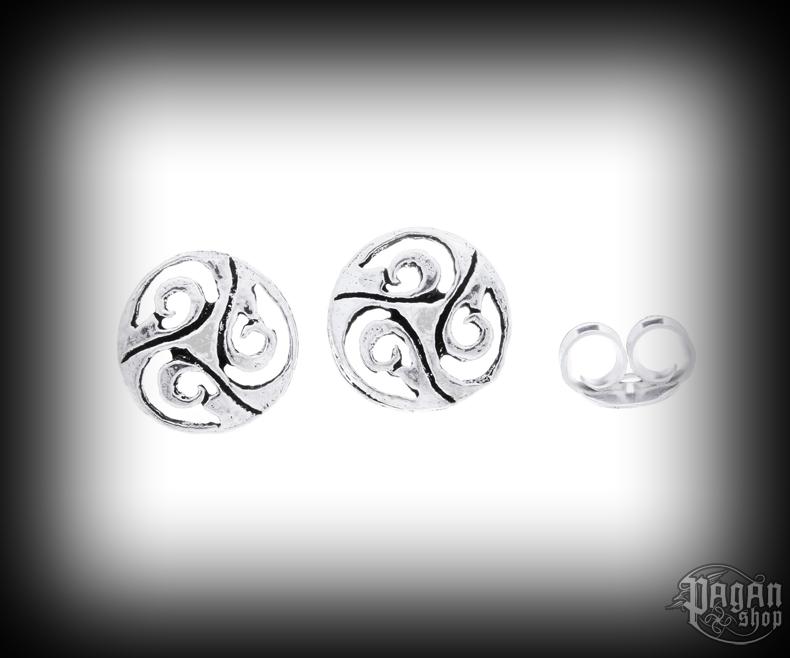 Stud earrings Triskel Nuada - 925 sterling silver