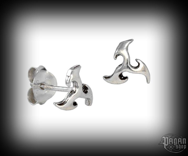 Stud earrings Triskel Ealar - 925 sterling silver