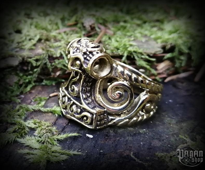 Ring Thor's hammer Thorwal - bronze
