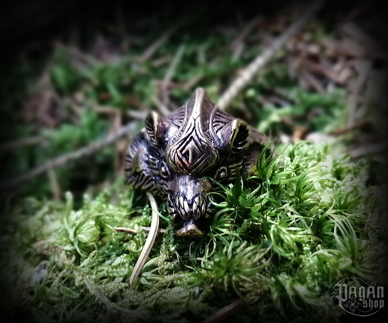 Ring Wild boar Borstir - bronze