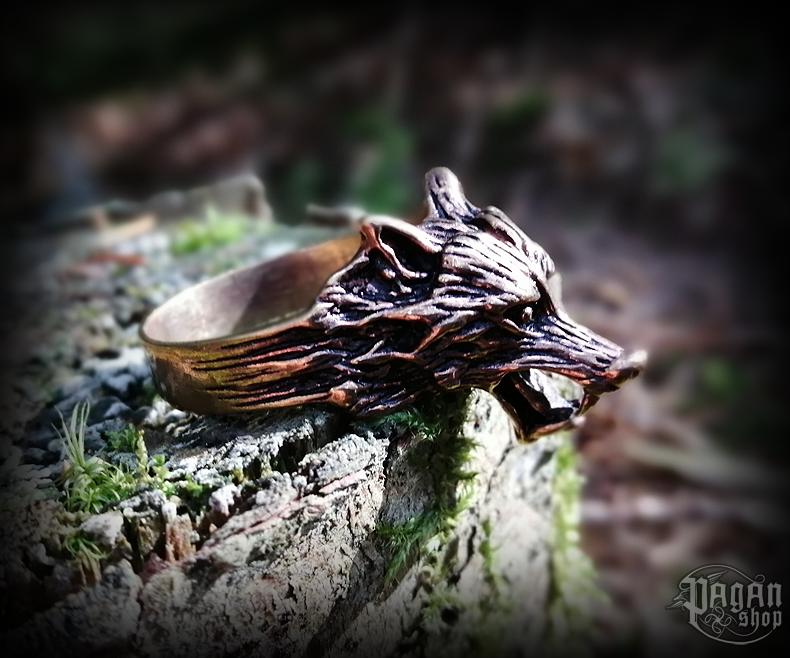 Ring Wolf Fenrir - bronze