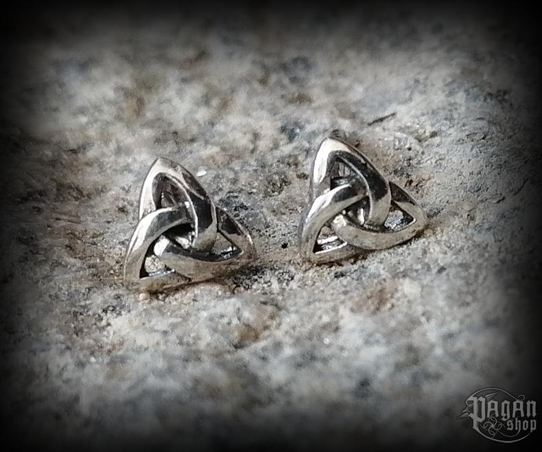Stud earrings Triqueta Camia - 925 sterling silver