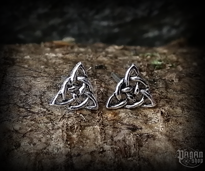 Stud earrings Triquetra Peigi - 925 sterling silver