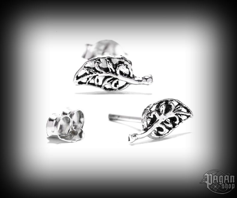 Stud earrings Leaf Grace - 925 sterling silver