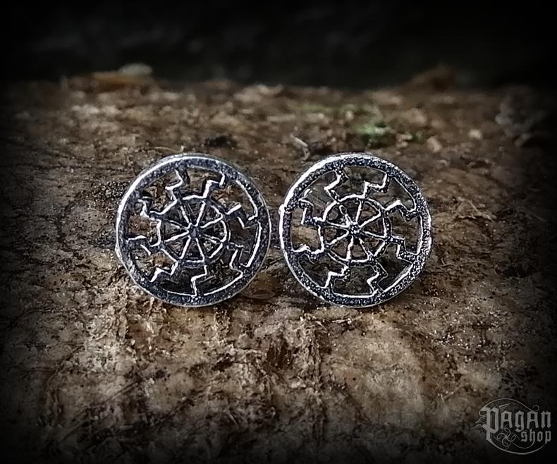 Stud earrings Sun Svart - 925 sterling silver