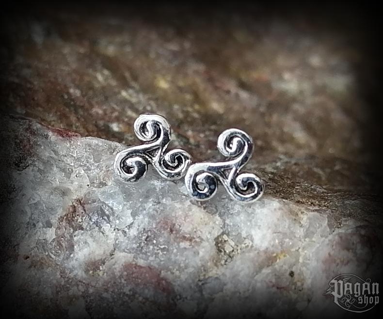 Stud earrings Triskel Ikana - 925 sterling silver
