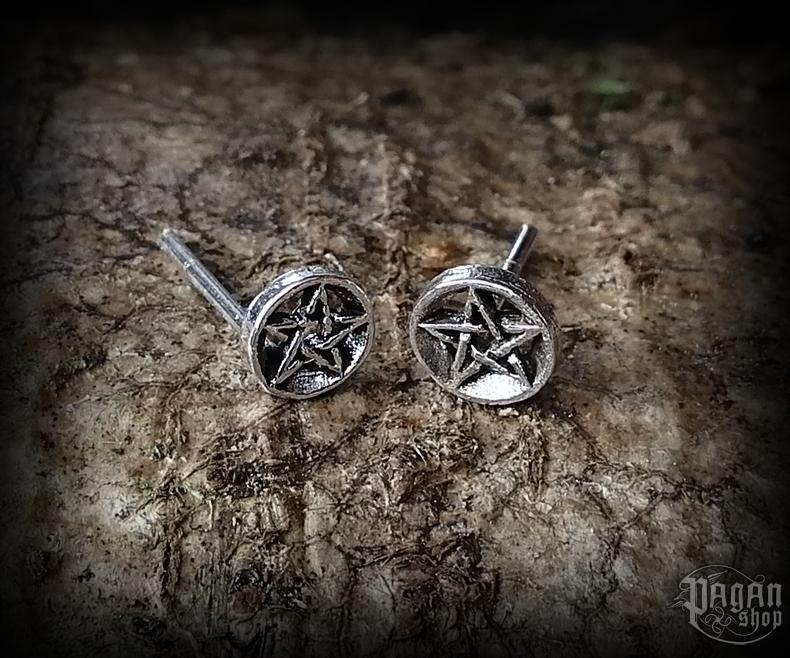 Stud earrings Pentagram Rica - 925 sterling silver