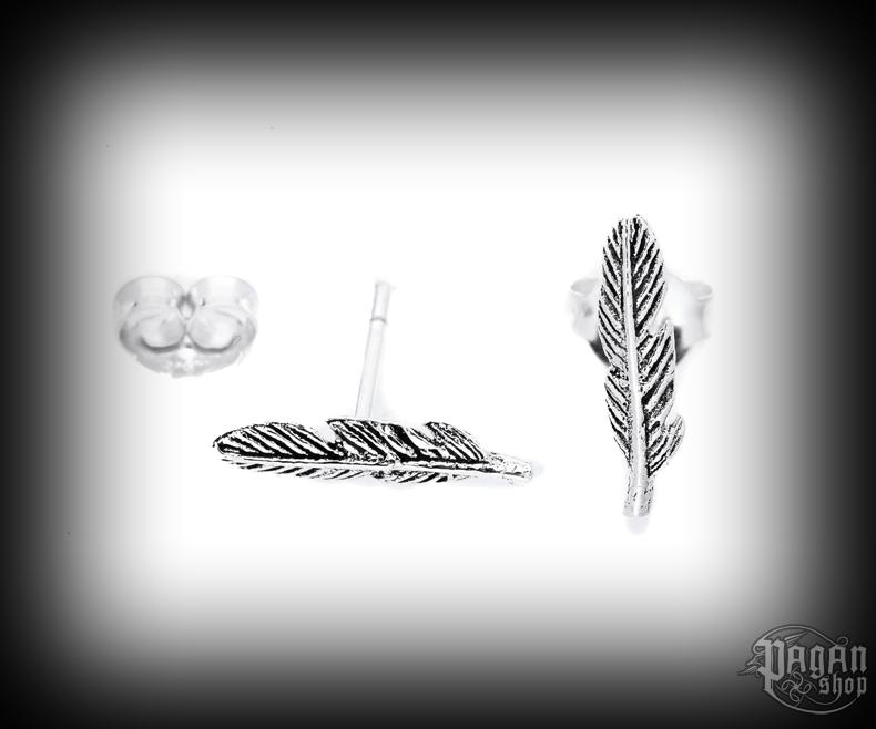 Stud earrings Feather Kiana - 925 sterling silver