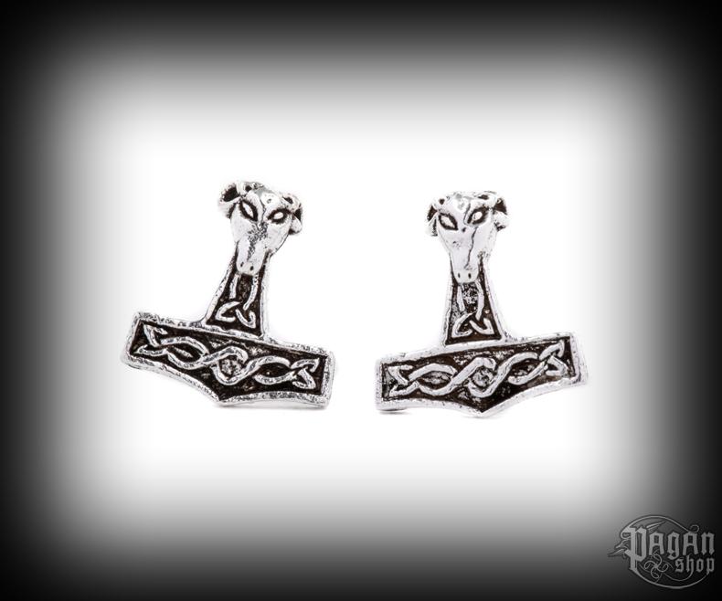 Stud earrings Thor's hammer Vaedderen - 925 sterling silver