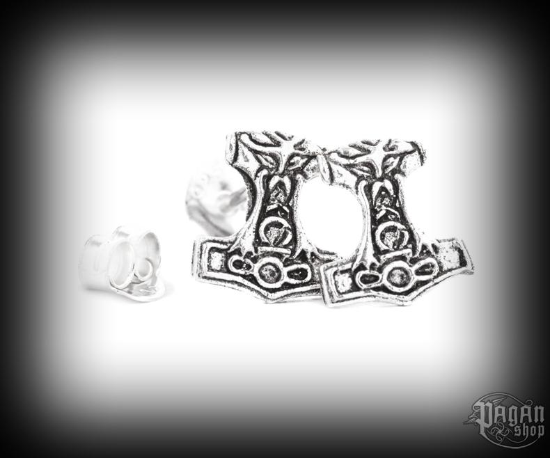 Stud earrings Thor's hammer Nordmann - 925 sterling silver