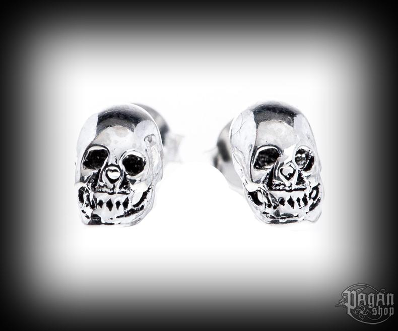 Stud earrings Skull Dauda - 925 sterling silver