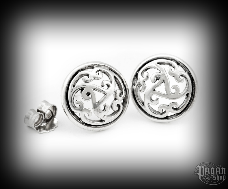 Stud earrings Triskel Rhianna - 925 sterling silver