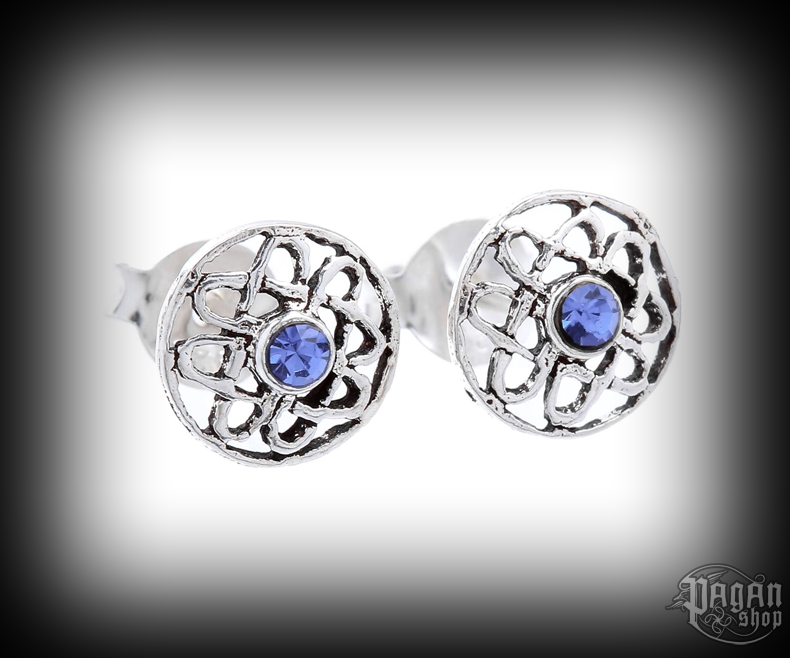 Stud earrings with crystal Celtic Ranya - 925 sterling silver
