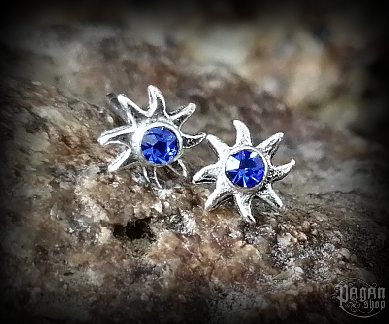 Stud earrings with crystal Sun Lucia - 925 sterling silver