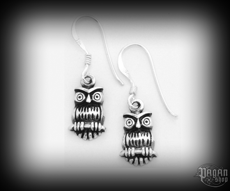 Hook earrings Owl Nilah - 925 sterling silver