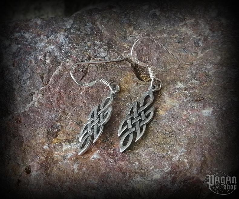 Hook earrings Celtic Órlaith - 925 sterling silver