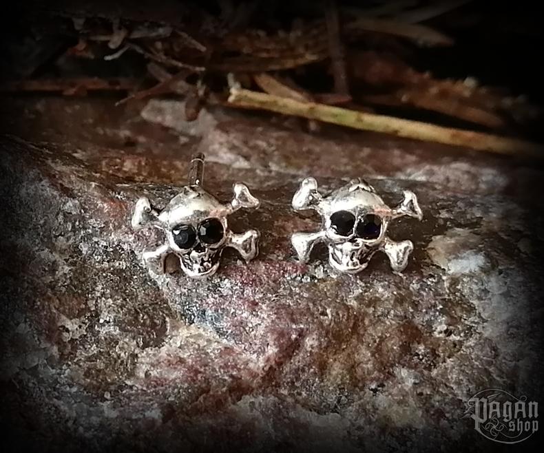 Stud earrings Skull Hadden - 925 sterling silver