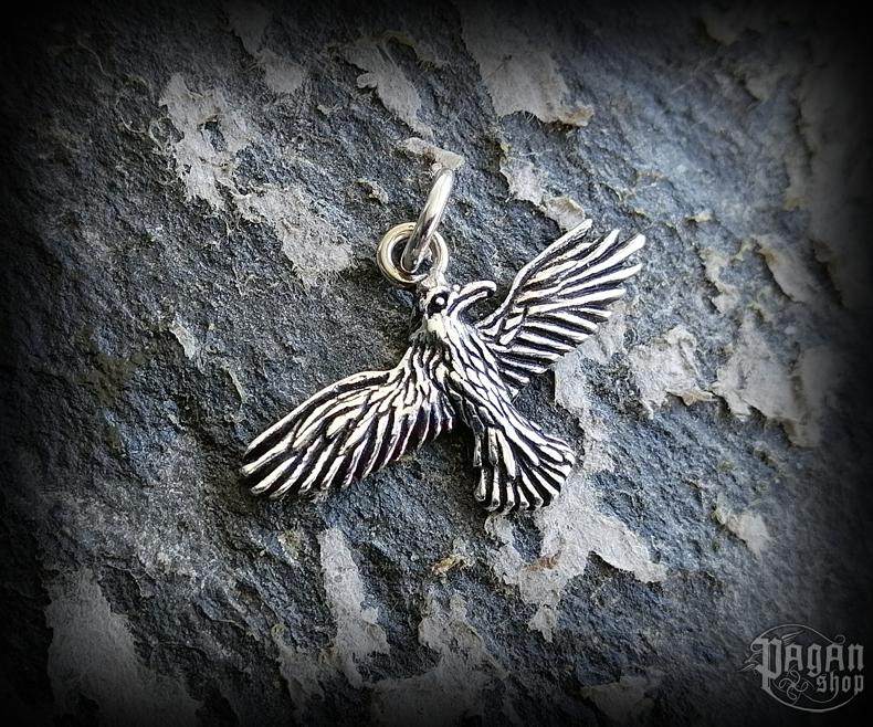 Pendant Raven Hugin - 925 sterling silver
