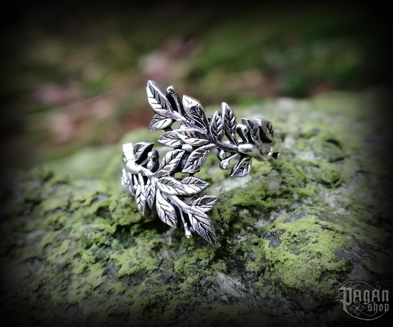 Ring Betel leaves Daphne - 925 sterling silver