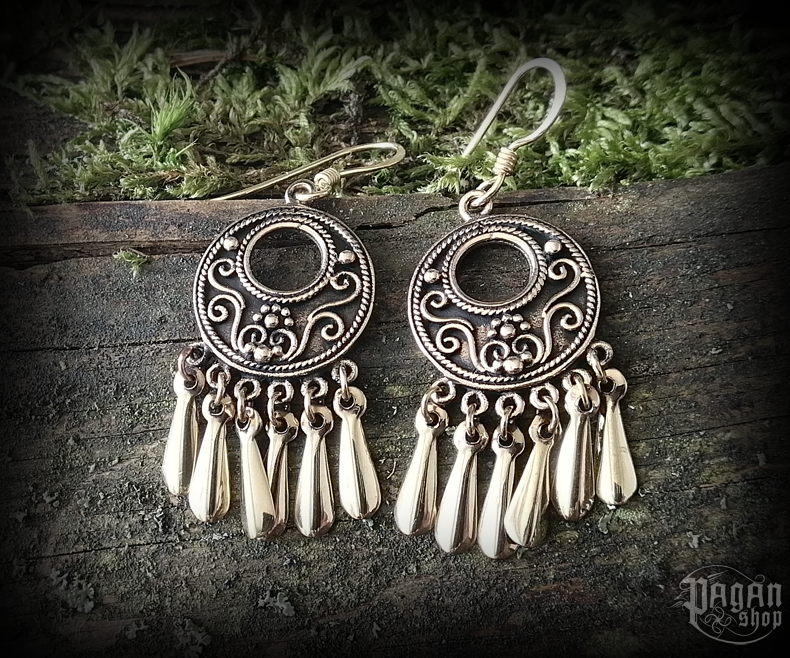 Hook earrings Viking Jora - bronze
