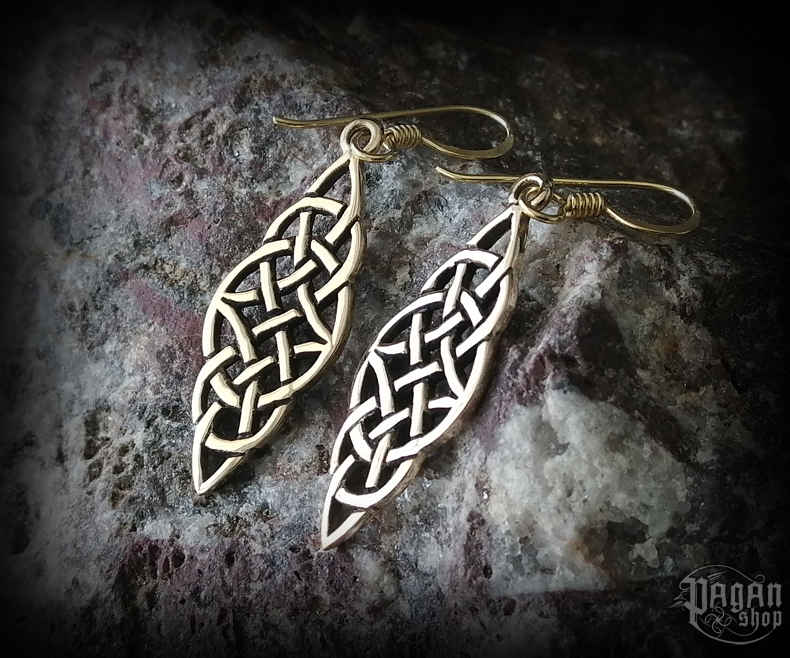 Hook earrings Celtic Fionnuir - bronze