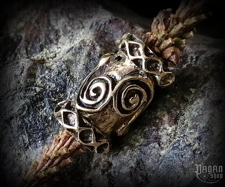 Beard bead Celtic Dwalin - bronze