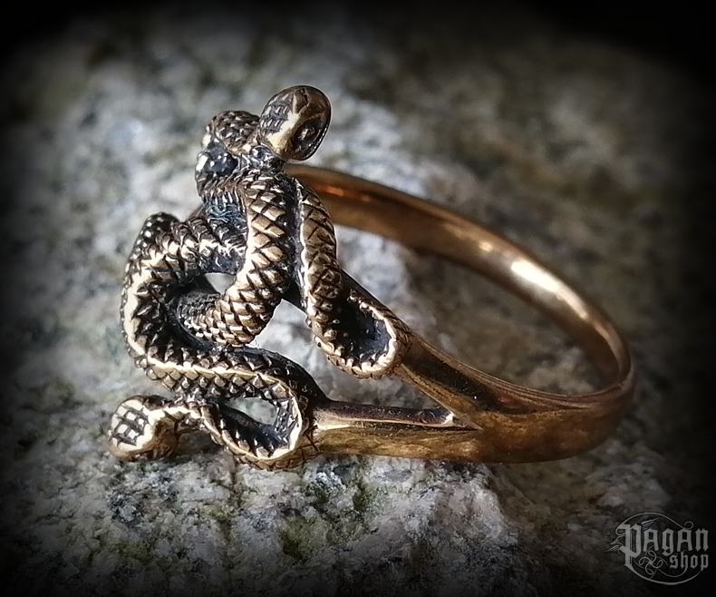 Ring Snakes Snaps - bronze