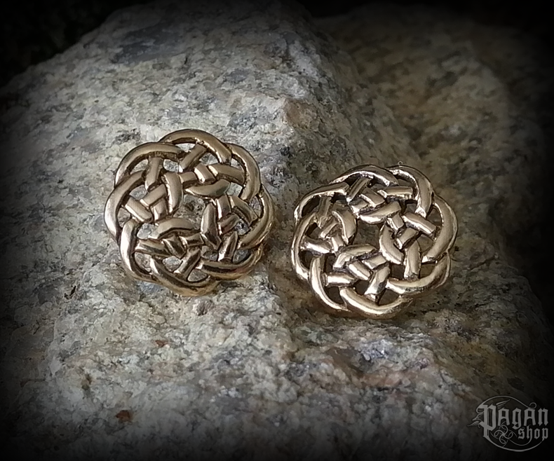 Stud earrings Celtic Dana - bronze